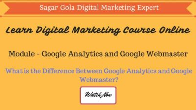 What is the Difference Between Google Analytics and Google Webmaster? - Hindi