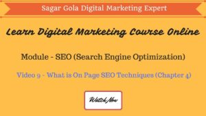 What is On Page SEO Techniques? | Activities | Tutorial - Chapter 4 - Hindi