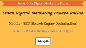 What is the Keywords and its types - Short Tail & Long Tail Keywords - Hindi